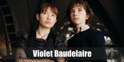 Violet's costume is her gothic attire from the 2004 film and the casual, colorful outfit from the Netflix TV series. Violet is the eldest Baudelaire child.