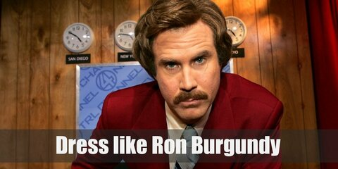 Anchorman's Ron Burgundy Costume