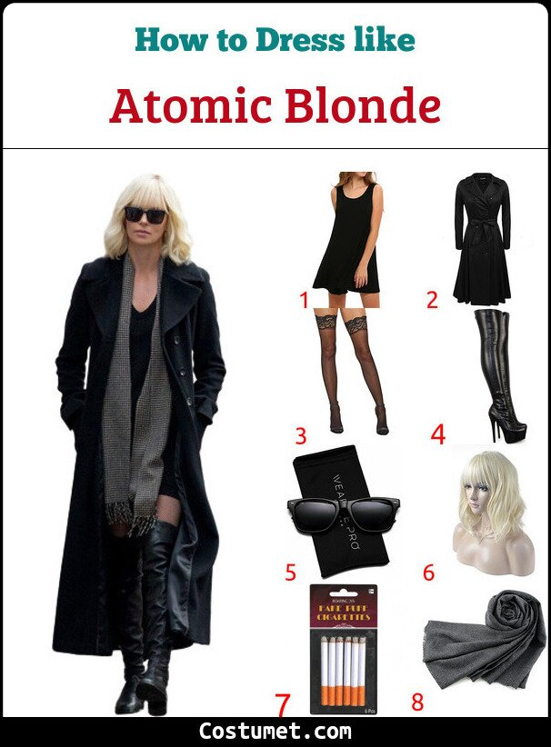 Atomic Blonde Costume for Cosplay & Halloween