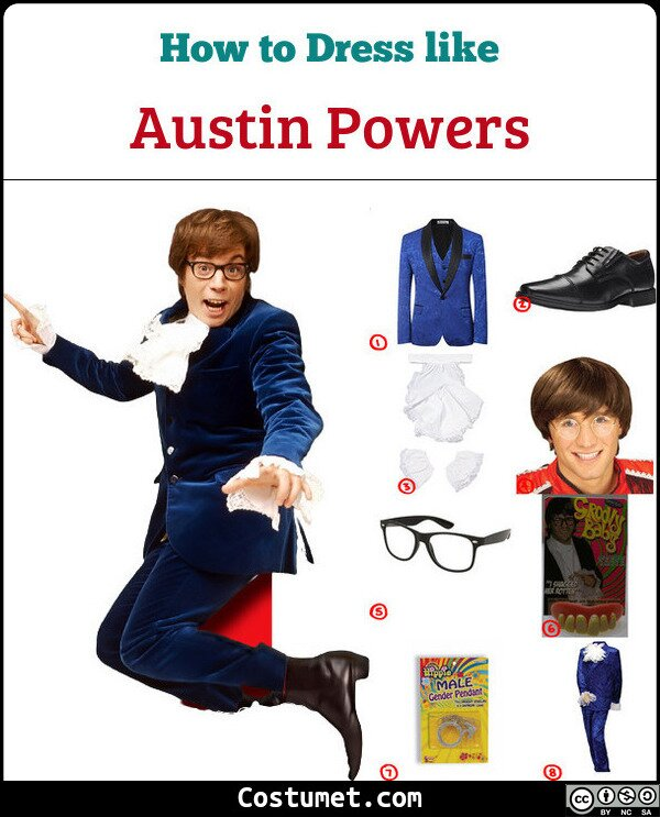 Austin Powers Costume for Cosplay & Halloween
