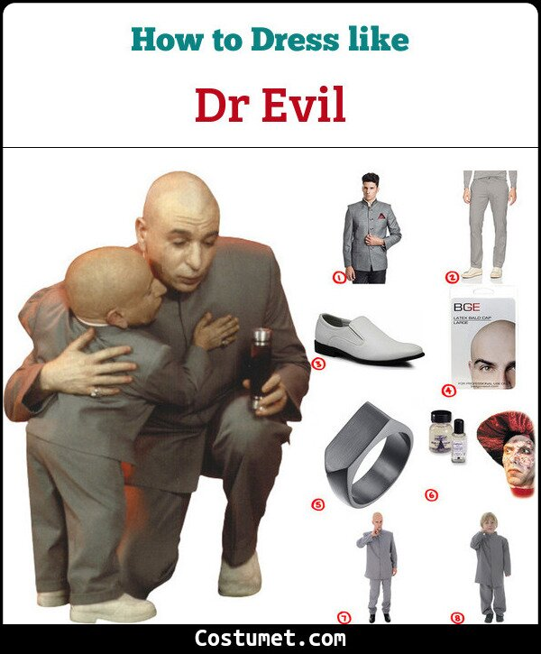 Dr Evil Costume for Cosplay & Halloween