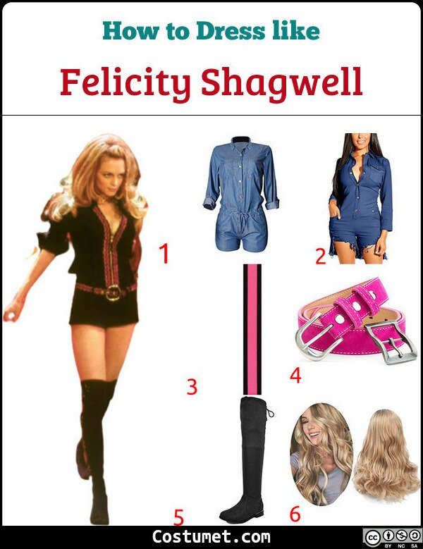 Felicity Shagwell Costume for Cosplay & Halloween