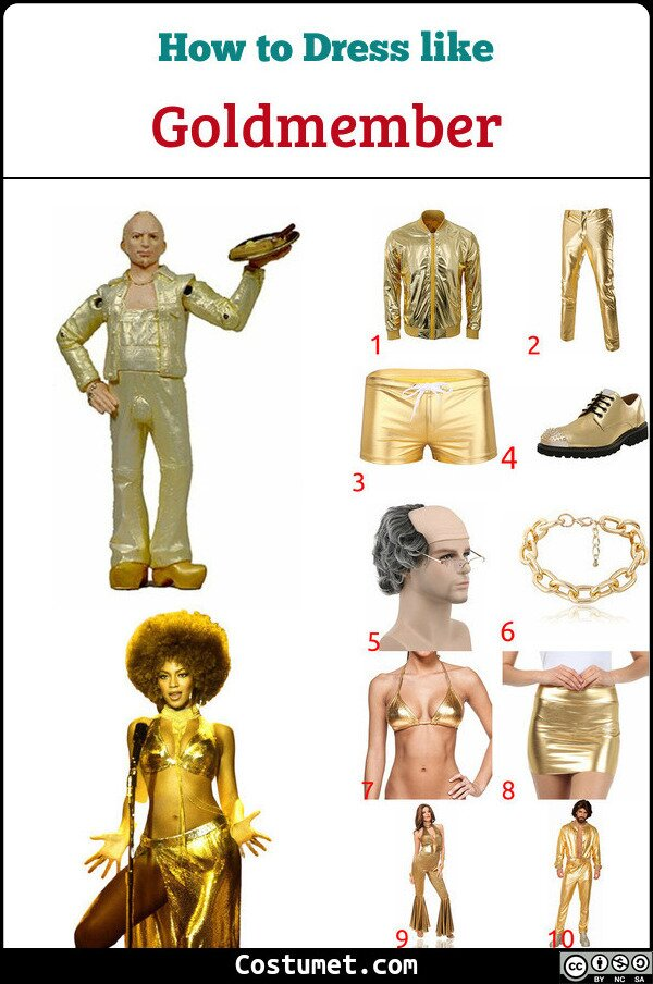 Goldmember Costume for Cosplay & Halloween