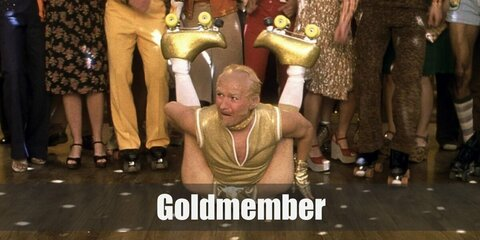 Goldmember costume is keeping the look golden and shiny with an all-gold jacket, pants, and shoes. Wear a balding wig and gold chains, too! For women, wear gold bikini top & shorts.