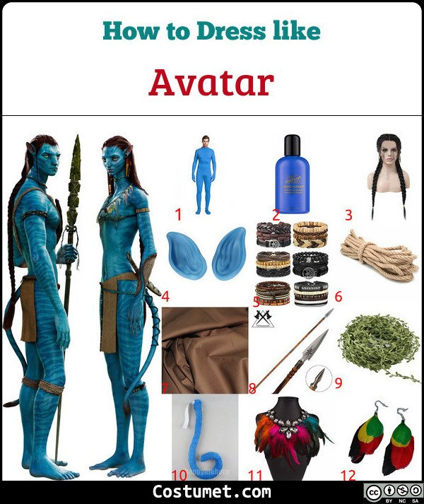 Avatar Costume for Cosplay & Halloween
