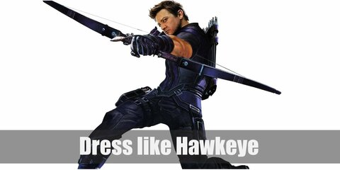 Hawkeye has had a few outfits since his debut, but one thing remains similar among them. He loves 'em sleek. For the film adaptation of the Avengers, Hawkeye wears an all-black ensemble. Don't forget his trusty modern bow and quiver of arrows.