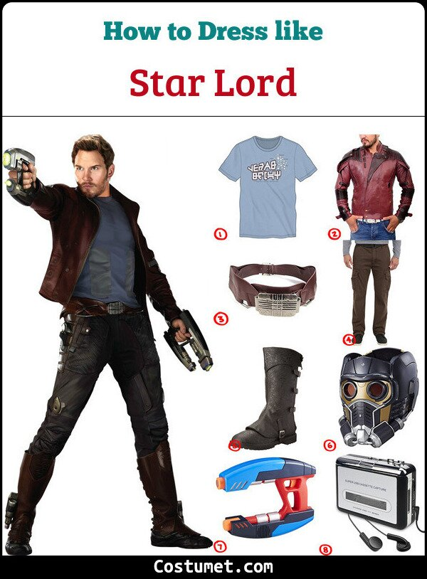 Star Lord Costume for Cosplay & Halloween