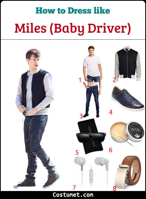 Baby Driver Costume for Cosplay & Halloween