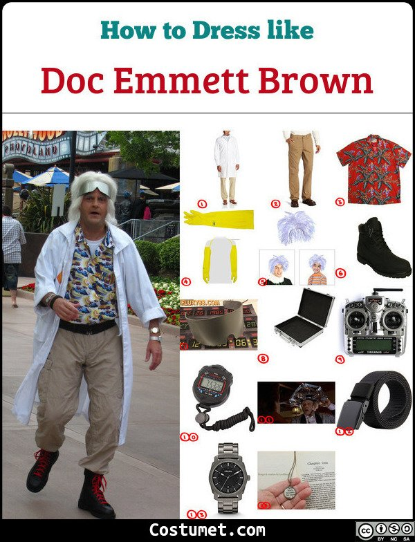 Doc Emmett Brown Costume for Cosplay & Halloween