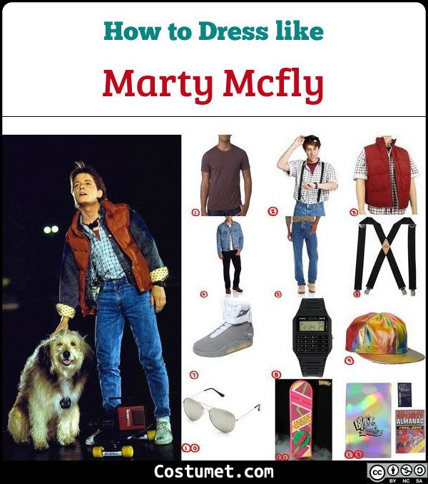 Marty Mcfly Costume for Cosplay & Halloween