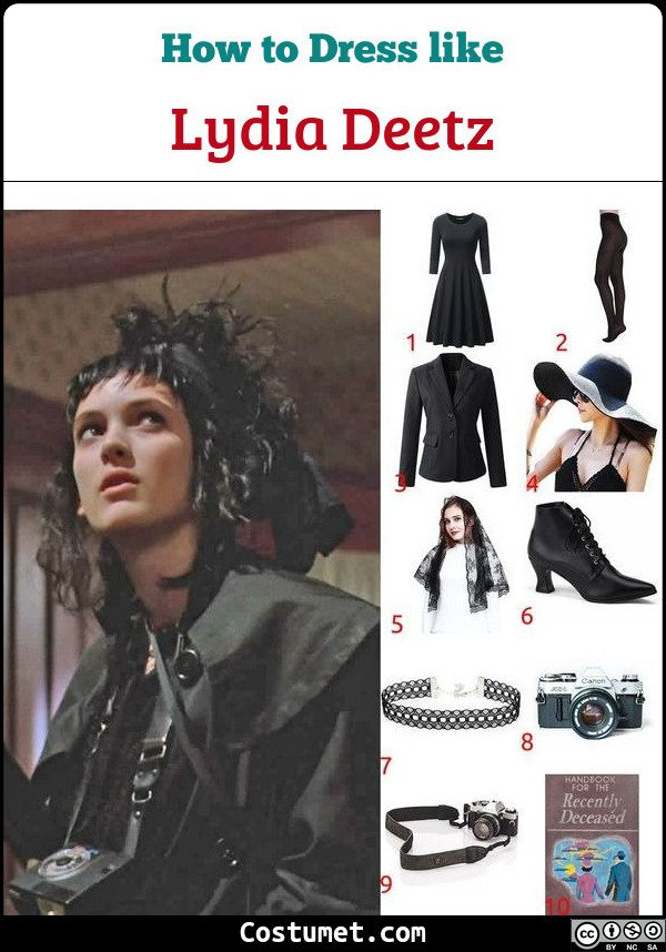 Lydia Deetz Costume for Cosplay & Halloween