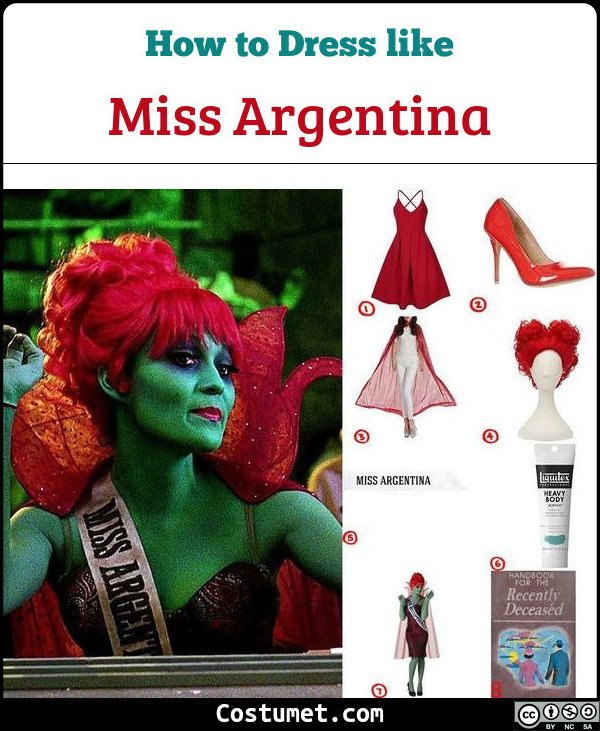 Miss Argentina Costume for Cosplay & Halloween