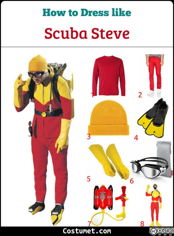 Scuba Steve Costume for Cosplay & Halloween