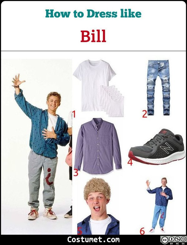 Bill And Ted Costume for Cosplay & Halloween