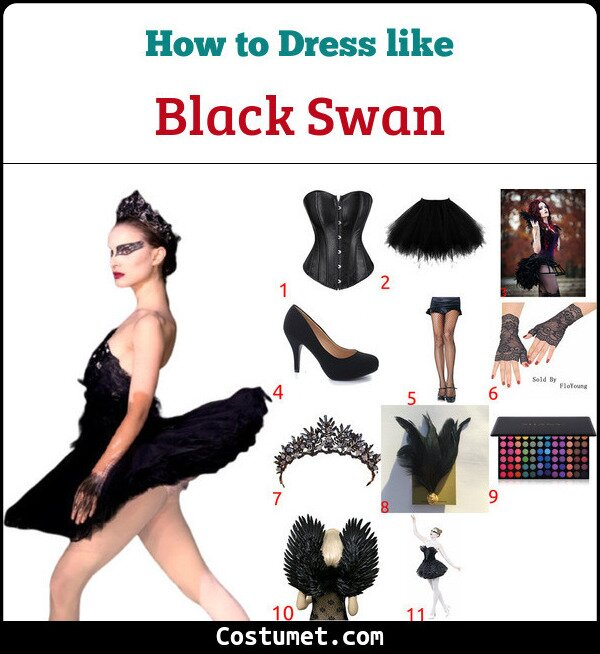 Black Swan Costume for Cosplay & Halloween