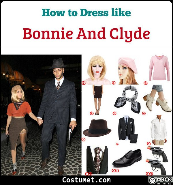 Bonnie And Clyde Costume for Cosplay & Halloween