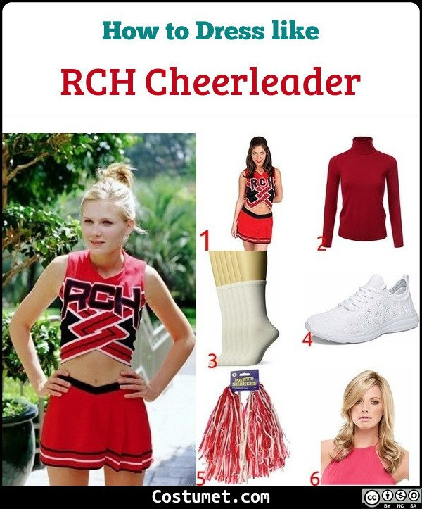 Bring It On RCH Cheerleader Costume for Cosplay & Halloween
