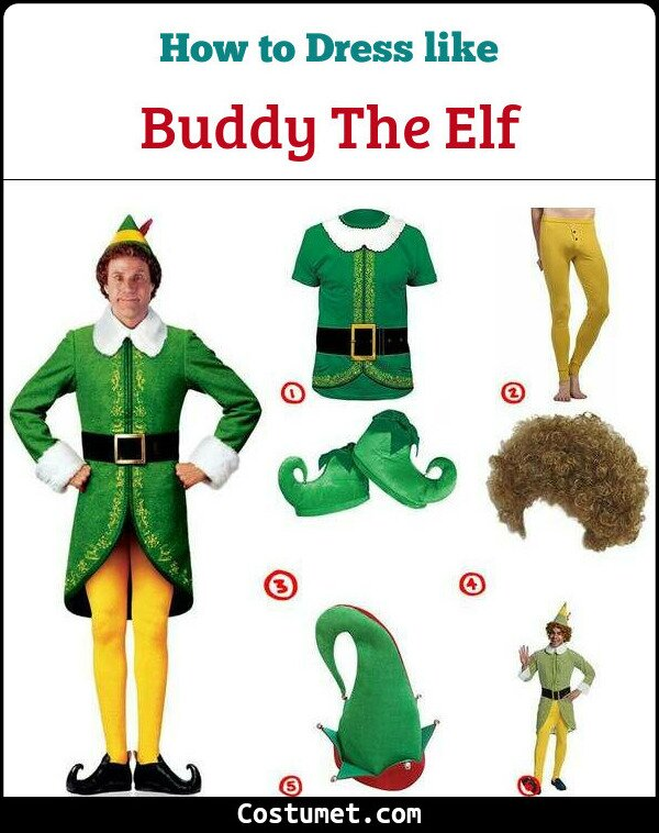 Buddy The Elf Costume for Cosplay & Halloween