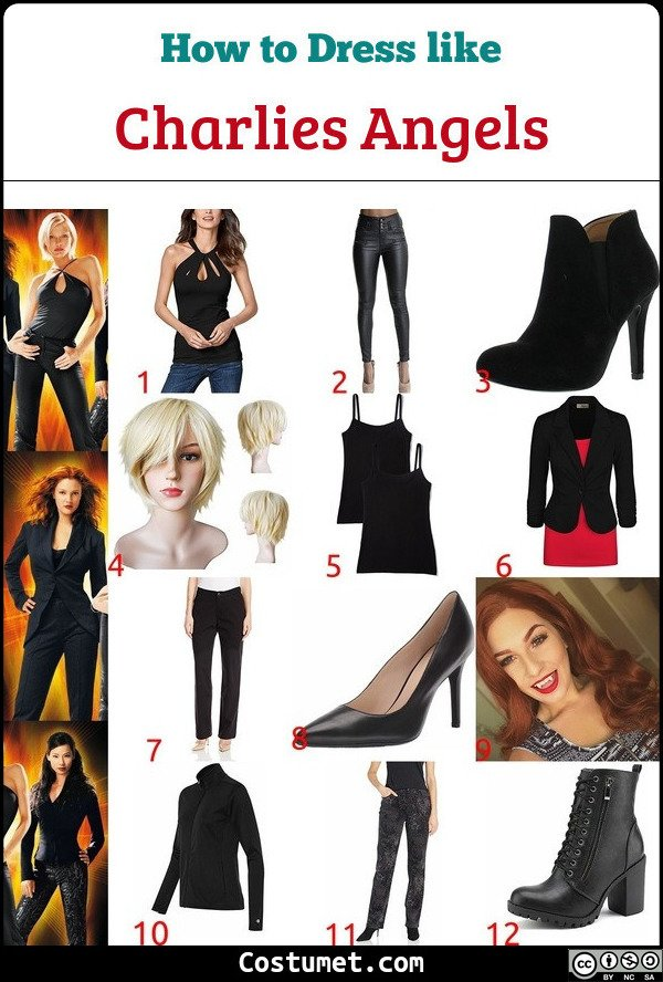 Charlies Angels Costume for Cosplay & Halloween