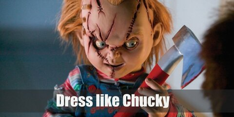Killer dolls are the stuff of nightmares, and seeing one on the big screen has traumatized many a kid. One classic murdering doll that has scarred many generations is Chucky. Chucky looks like a Good Guys doll when newly resurrected but over the years, he has gained many imperfections. He wears a multicolor striped sweater, blue overalls, and red sneakers.