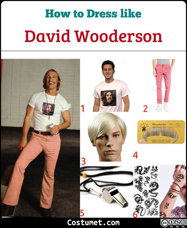 David Wooderson (Dazed And Confused) Costume for Cosplay & Halloween