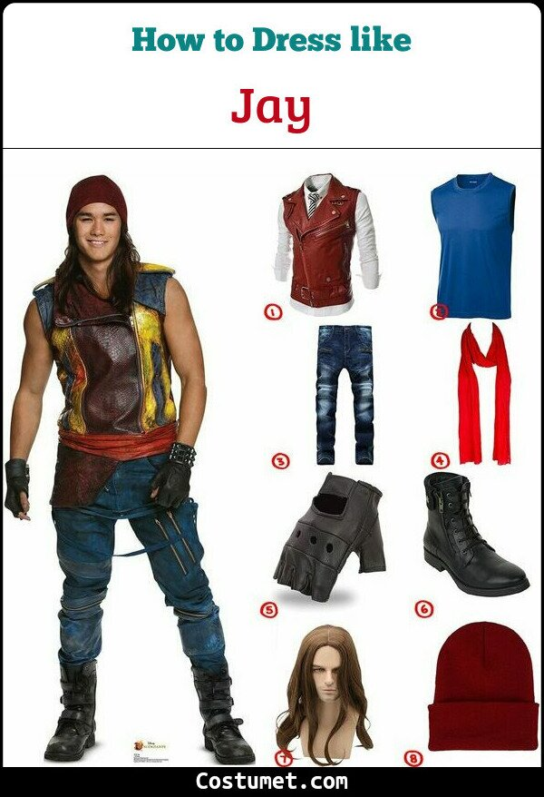 Jay Costume for Cosplay & Halloween
