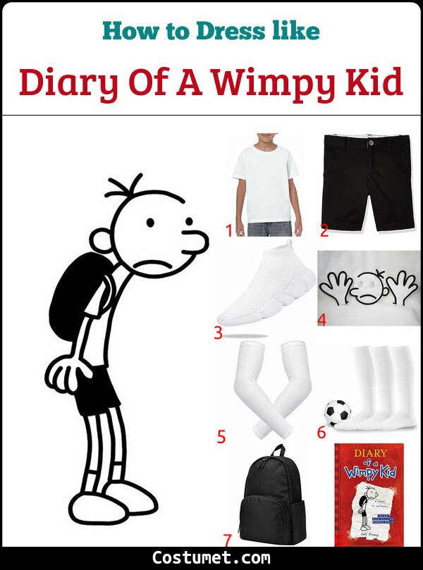 Diary Of A Wimpy Kid Costume for Cosplay & Halloween