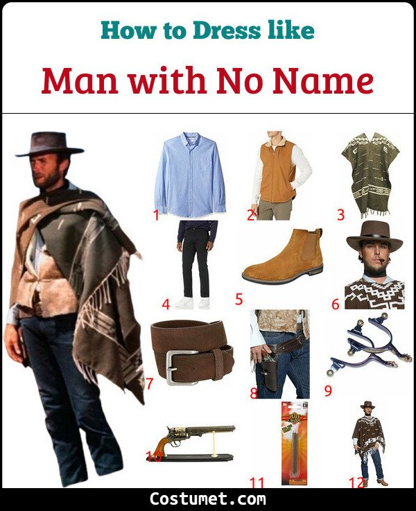 Man with No Name Costume for Cosplay & Halloween