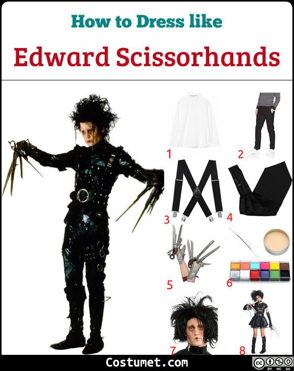 Edward Scissorhands Costume for Cosplay & Halloween