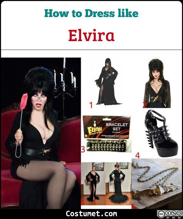 Elvira Costume for Cosplay & Halloween