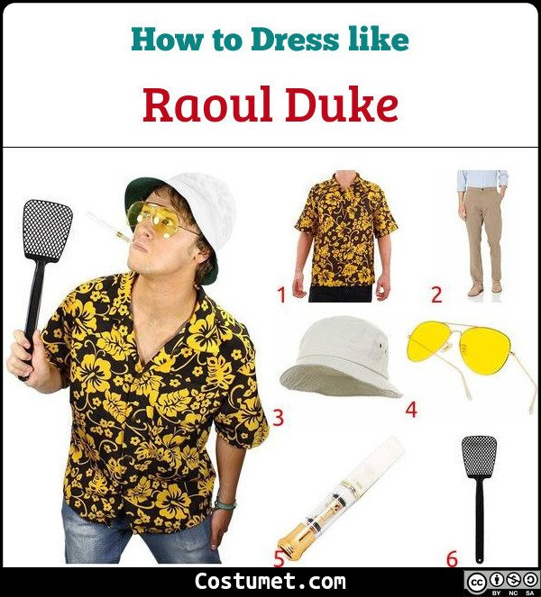 Raoul Duke Fear And Loathing In Las Vegas Costume for Cosplay & Halloween