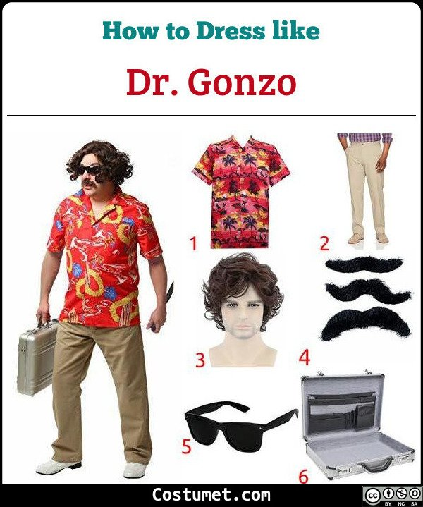 Dr. Gonzo Fear And Loathing In Las Vegas Costume for Cosplay & Halloween