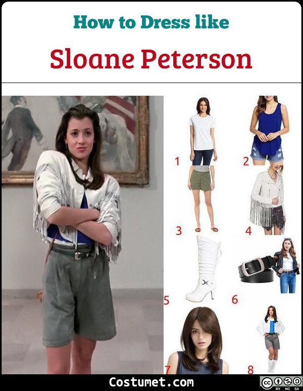 Sloane Peterson Costume for Cosplay & Halloween