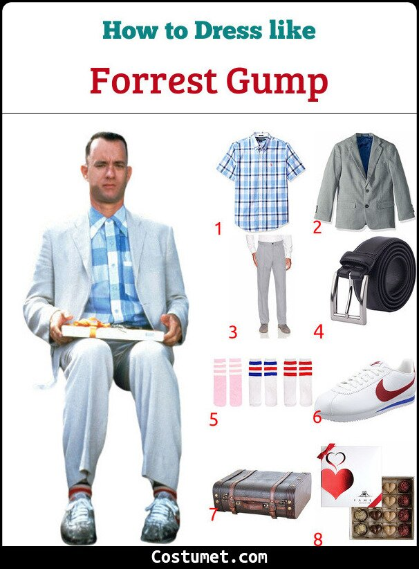 Forrest Gump Costume for Cosplay & Halloween