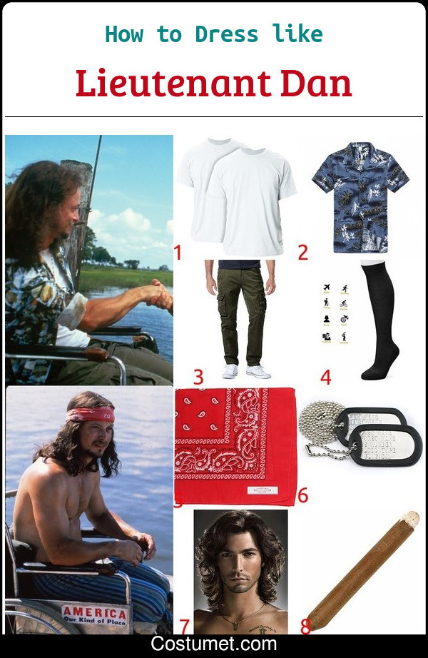 Lieutenant Dan Costume for Cosplay & Halloween