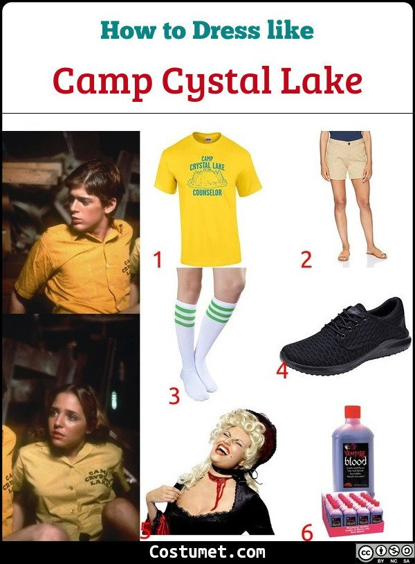 Camp Crystal Lake Counsellors Costume for Cosplay & Halloween
