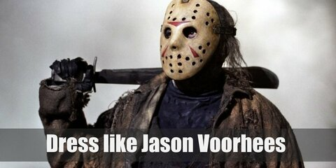There have been many different versions of Jason's character since the 80s, but his signature outfit can be said to be navy coveralls, black hiking boots, a machete, and a hockey mask.