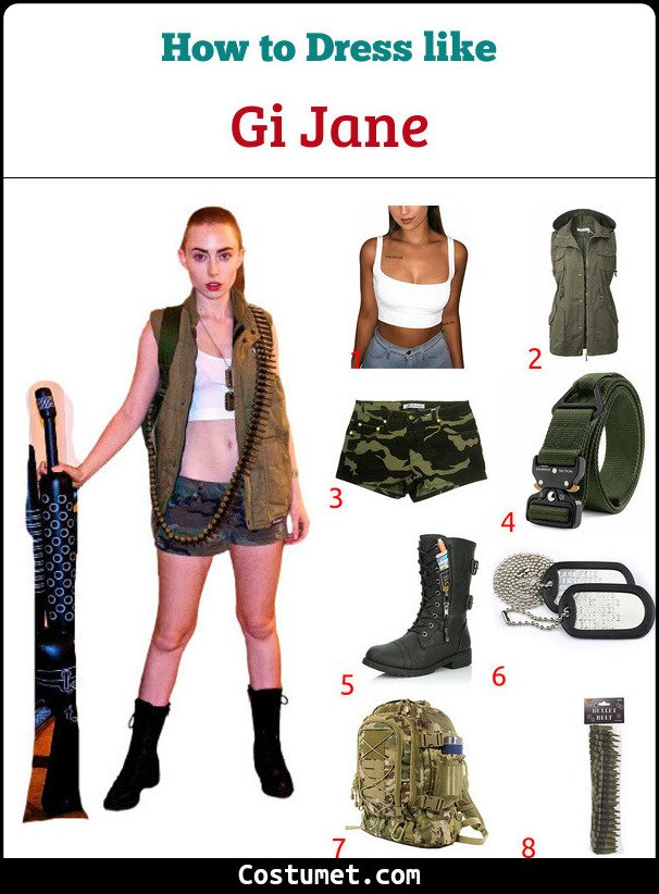 Gi Jane Costume for Cosplay & Halloween