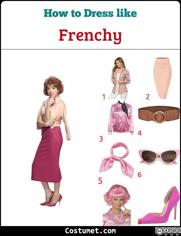 Frenchy Costume for Cosplay & Halloween