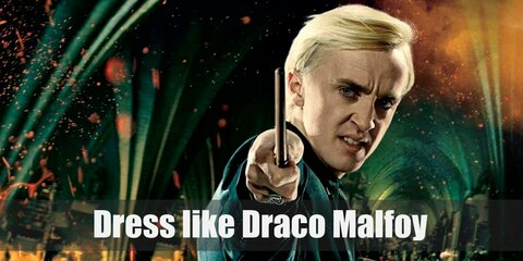 In the movie, Draco Malfoy doesn't have a problem wearing muggle clothes and looks very dashing in his all black ensemble.