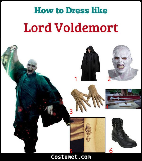 Lord Voldemort Costume for Cosplay & Halloween