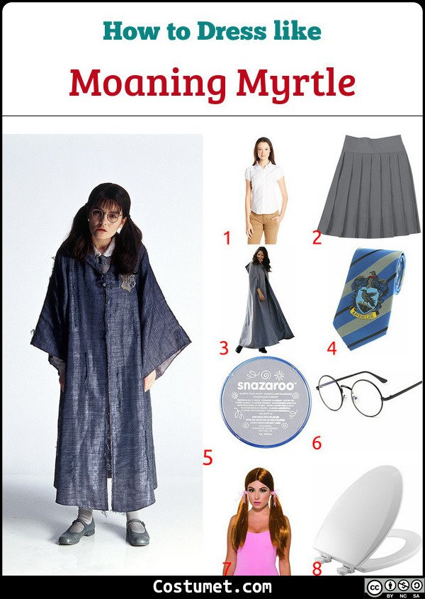 Moaning Myrtle Costume for Cosplay & Halloween