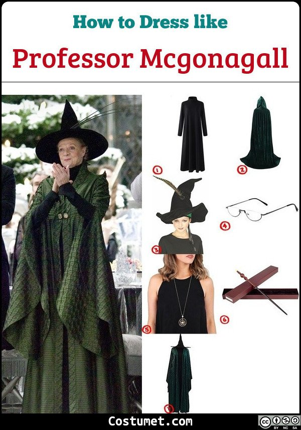 Professor Mcgonagall Costume for Cosplay & Halloween