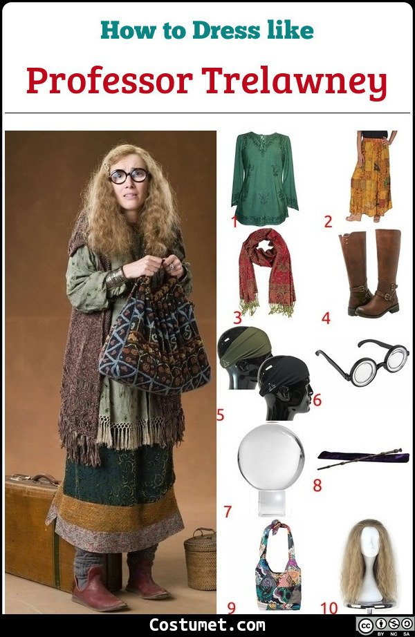 Professor Trelawney Costume for Cosplay & Halloween