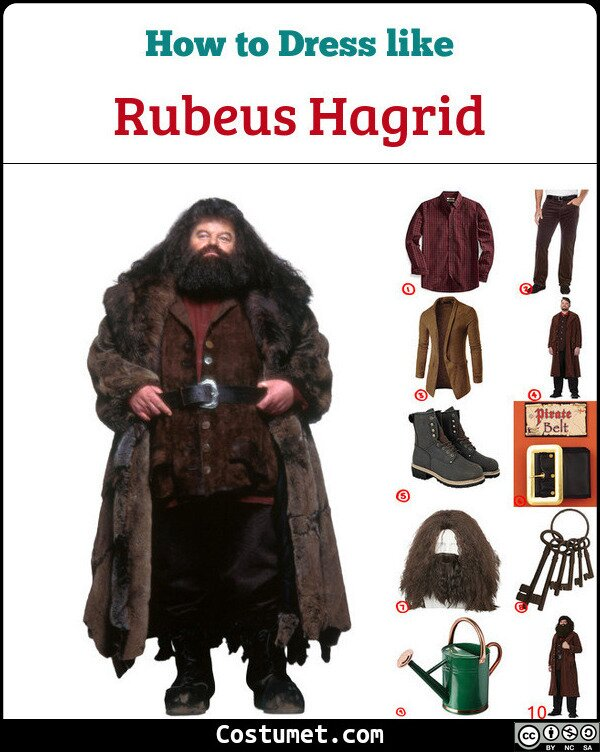 Rubeus Hagrid Costume for Cosplay & Halloween