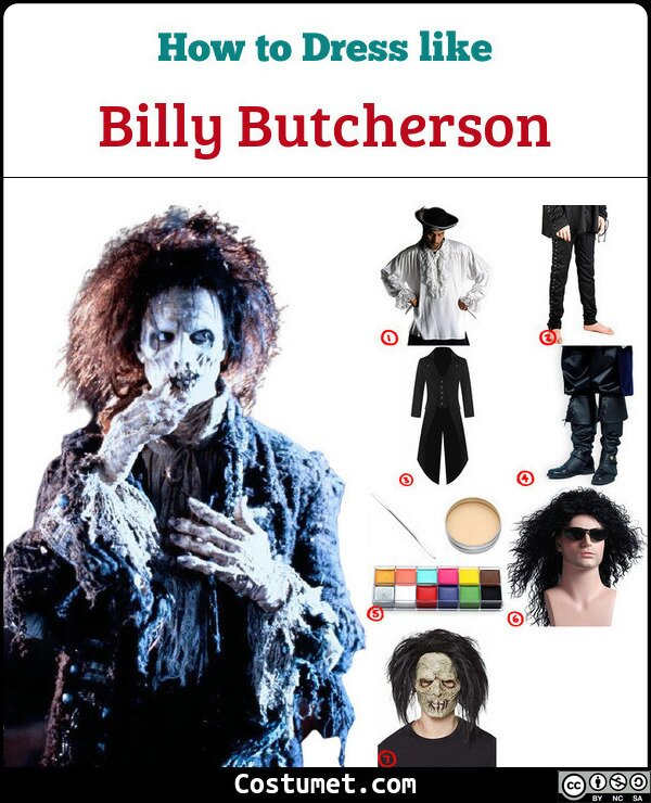 Billy Butcherson Costume for Cosplay & Halloween