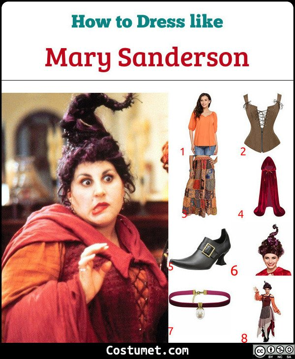 Mary Sanderson Costume for Cosplay & Halloween