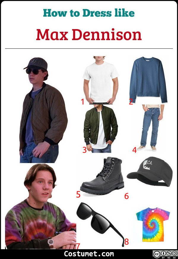 Max Dennison Costume for Cosplay & Halloween