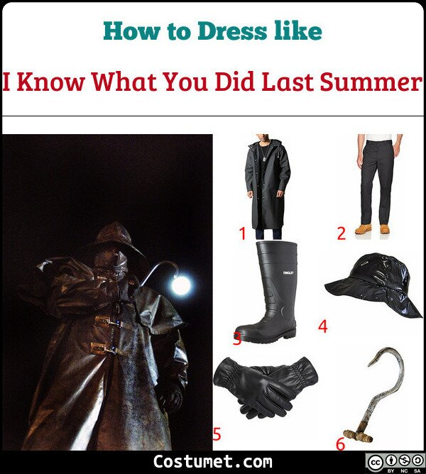 I Know What You Did Last Summer Costume for Cosplay & Halloween