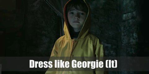 Georgie is a cute young boy who is mostly remembered because of his yellow, hooded raincoat. He is also usually depicted holding a red balloon from Pennywise.